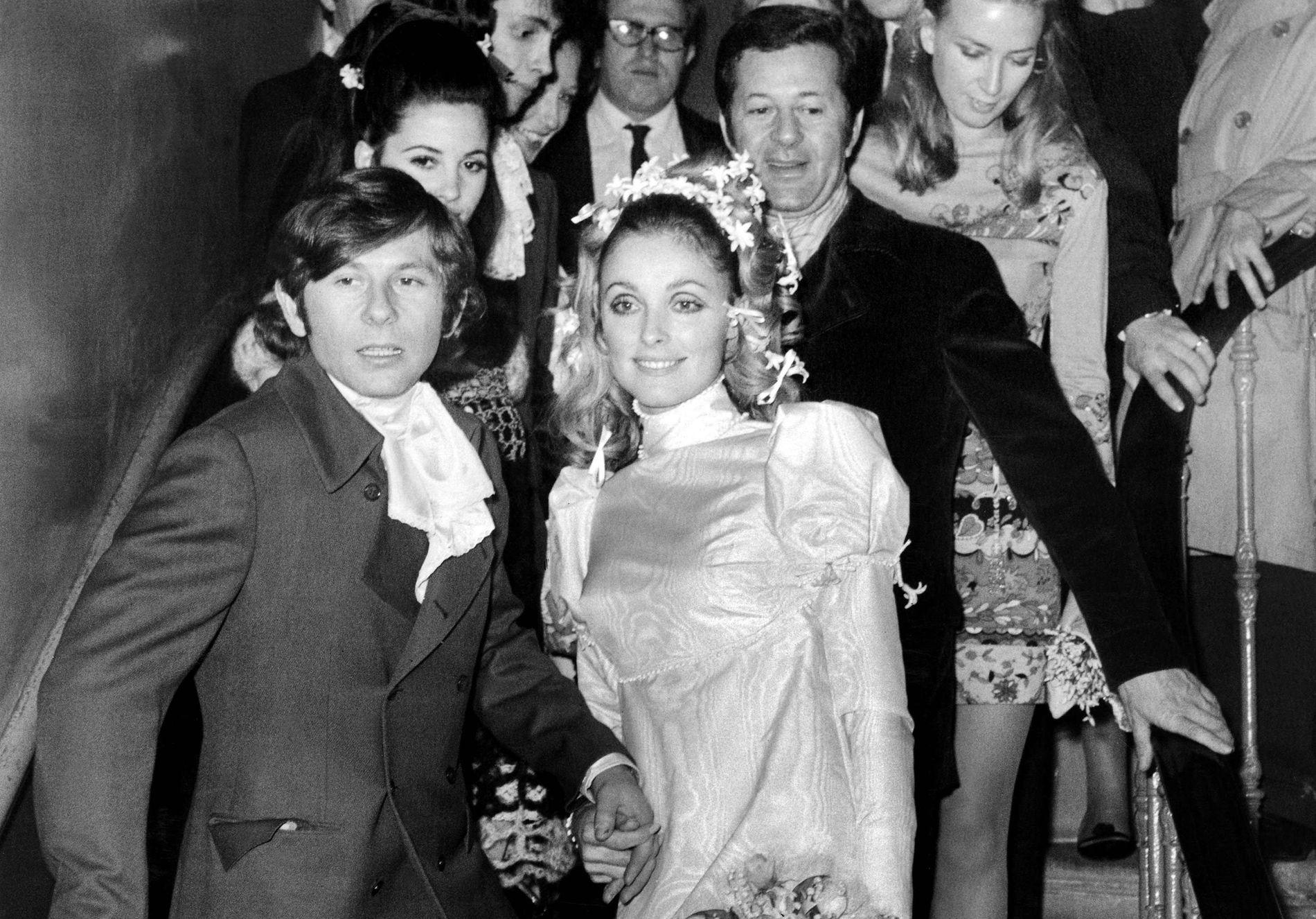 LYKKELIGE: Roman Polanski og Sharon Tate på bryllupsdagen i januar 1968.