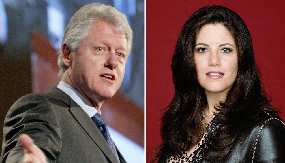 SKANDALE-ALLIANSE: Bill Clinton og Monica Lewinsky sånn de fremstår 20 år etter.