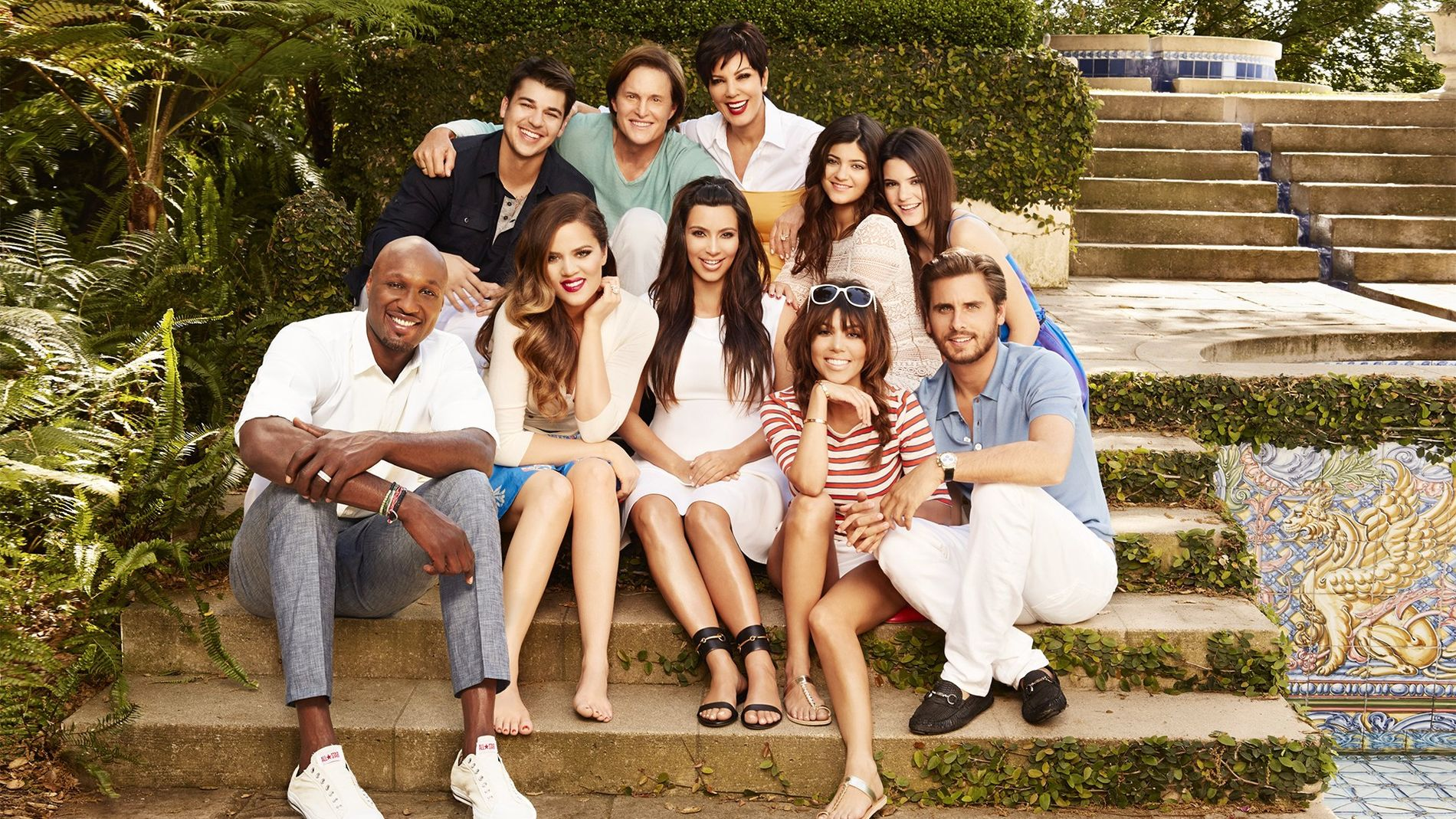 STORFAMILIE: Kardashian-familien i sesong 8 av «Keeping Up With the Kardashians».