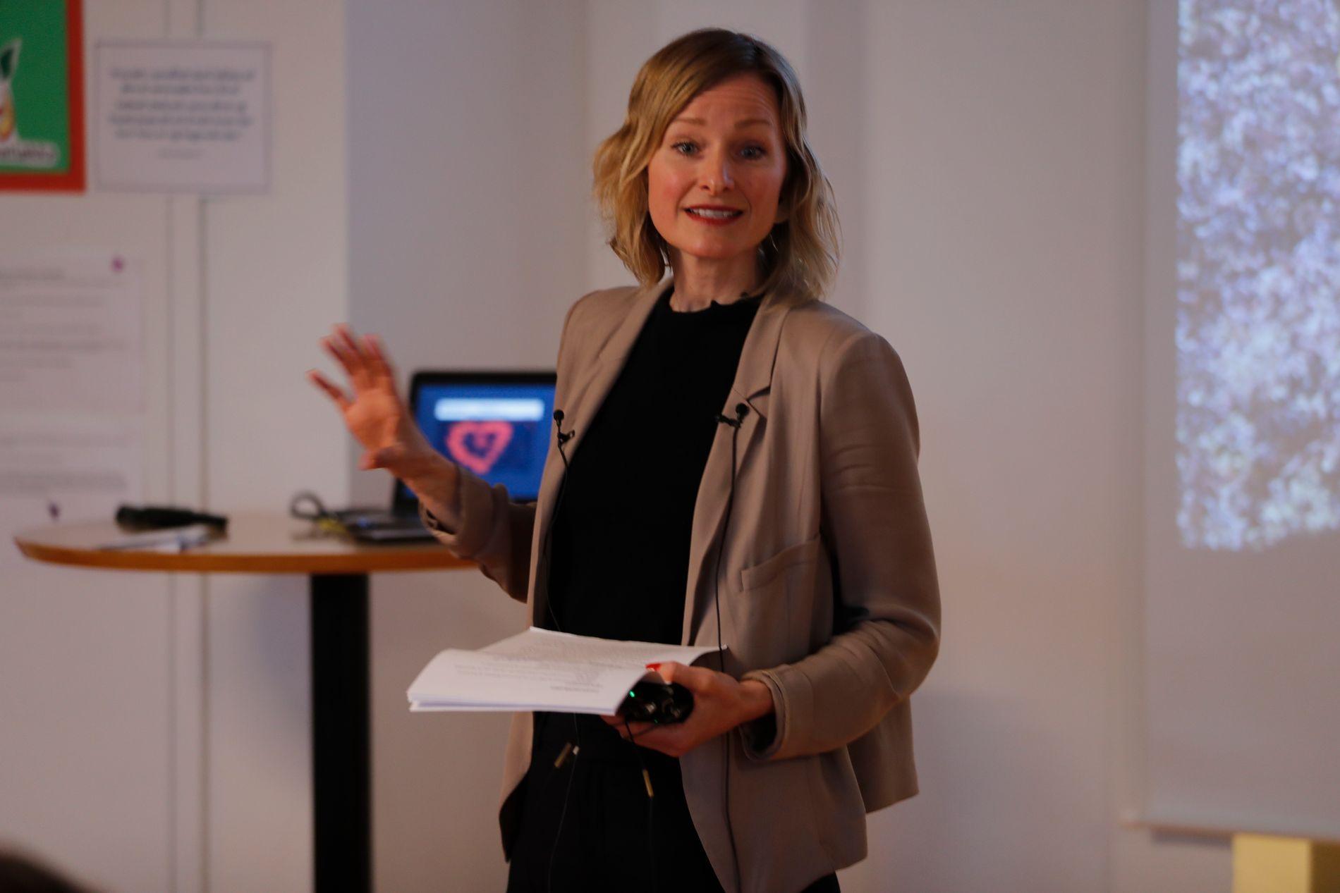 BYRÅD: Inga Marte Thorkildsen under et skolebesøk i Oslo tidigere i år.