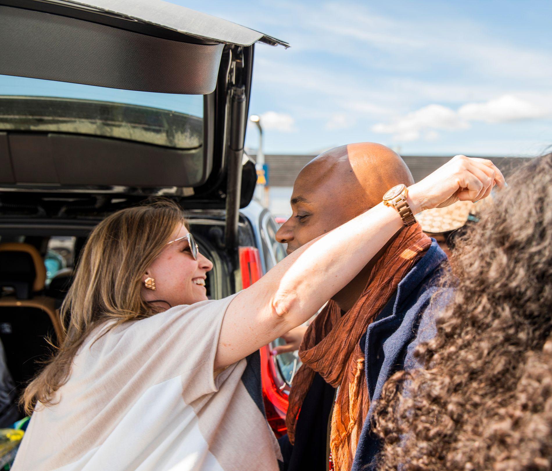 I OSLO: Durek Verrett ble tatt imot av kjæresten, prinsesse Märtha Louise da han landet på Gardermoen tirsdag.