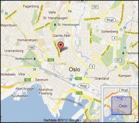 SENTRALT: Vor Frue ligger i Ullevålsveien, midt i Oslo sentrum. Foto: Google maps