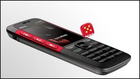 Nokia 5310 kommer med røde eller blå detaljer. (Foto: Nokia)