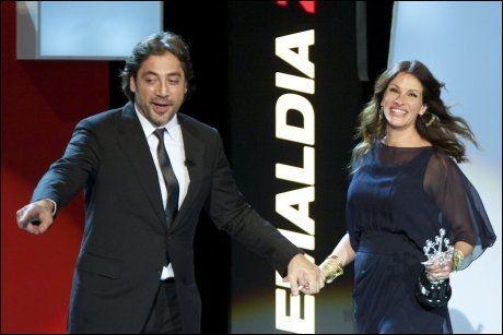FILMAKTUELLE: Julia Roberts og Javier Bardem spiller mot hverandre i «Eat Pray Love», som har norgespremiere 1. oktober. Foto: WENN
