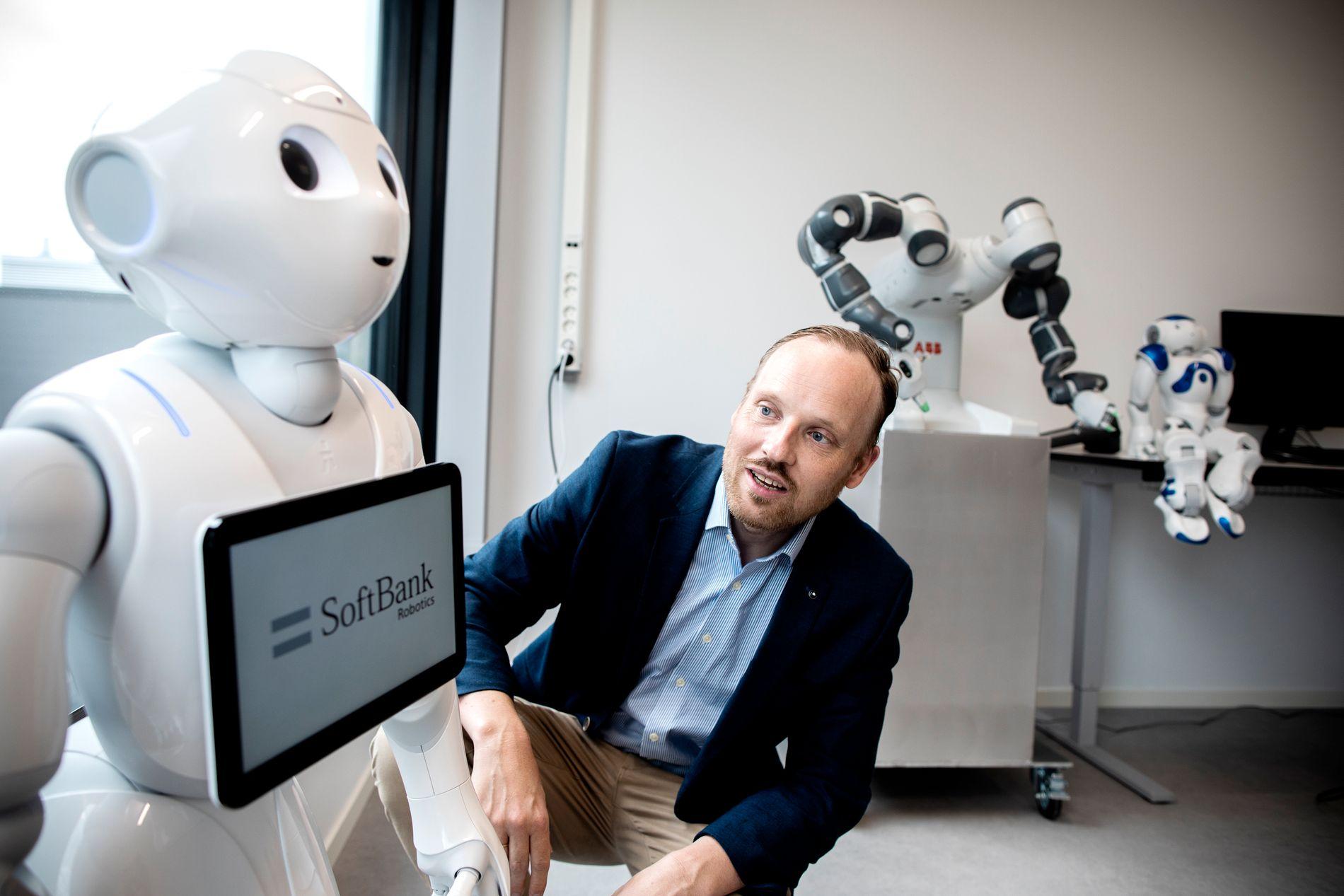 OPTIMIST:  Professor Ole-Christoffer Granmo tolker det som et godt tegn at kunstig intelligens og helseteknologi var et av de store temaene i Arendal denne uken.
