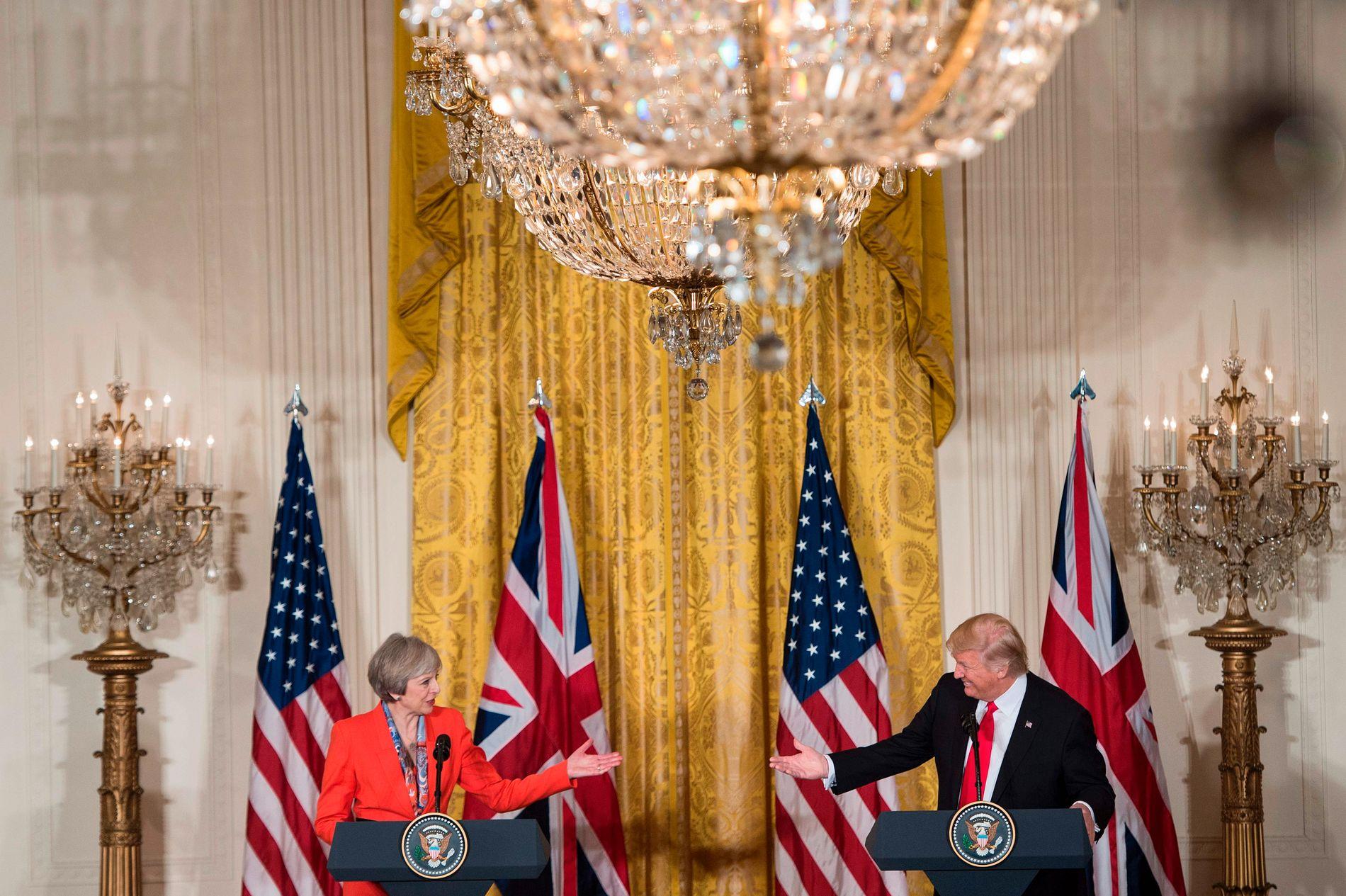 Første møte: Theresa May møtte tidlig Donald Trump. Men forholdet mellom USA og Storbritannia er ikke som det var.