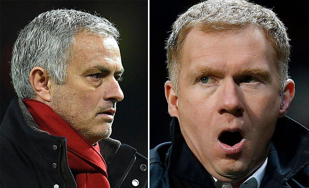 GJESP: José Mourinho og Paul Scholes (t.v) sendte neppe julekort til hverandre.