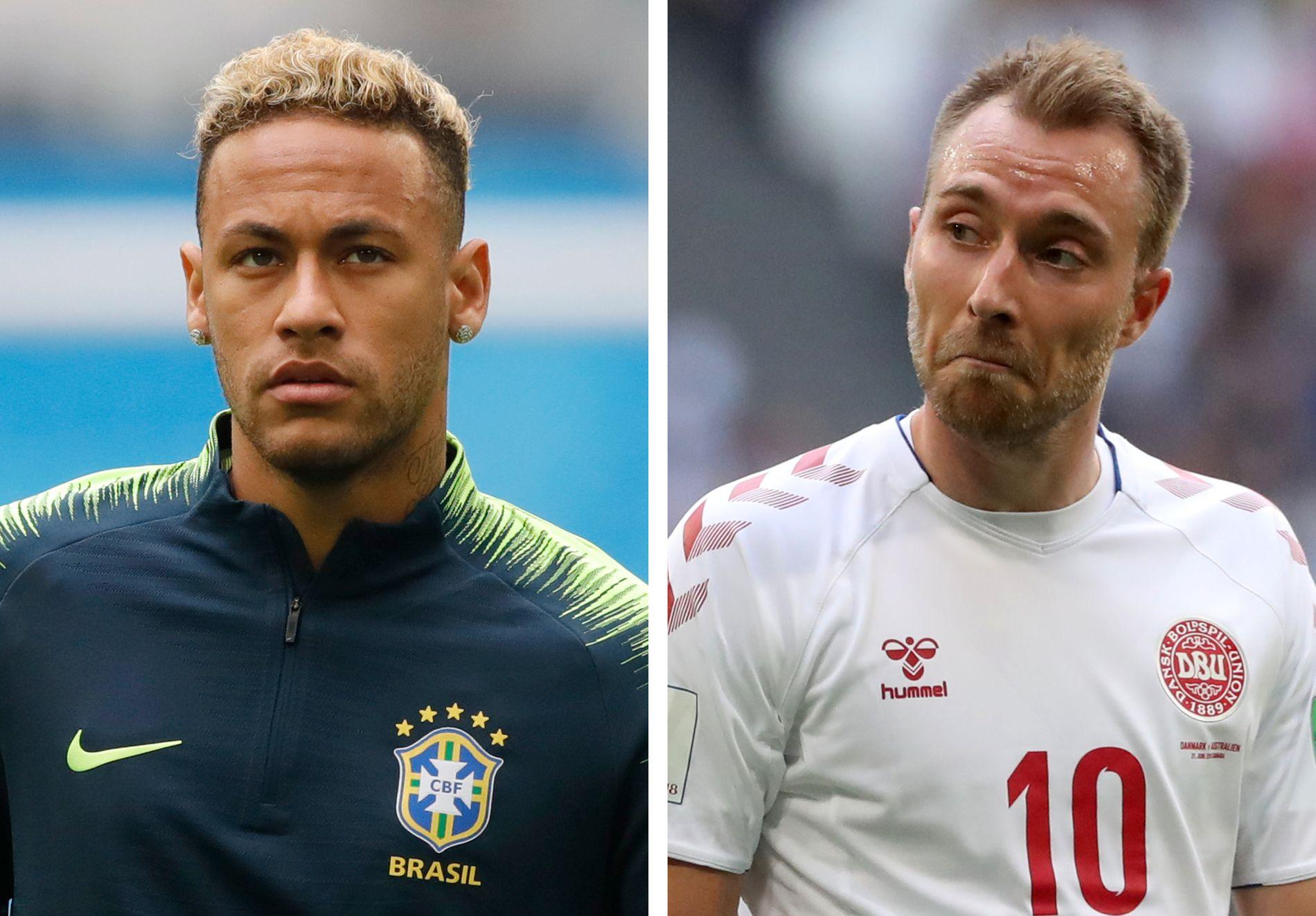 HVEM ER BEST? Neymar (t.v.) eller Christian Eriksen? Ifølge den danske keeperlegenden Peter Schmeichel er sistnevnte best.