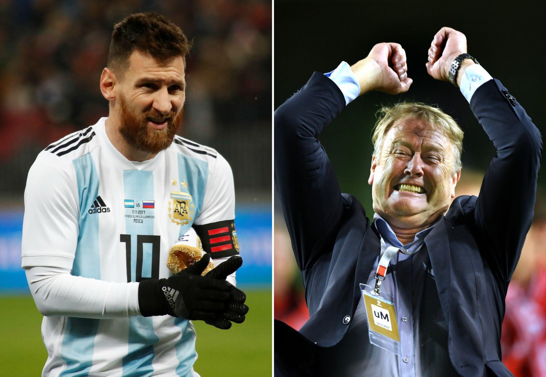 KAN MØTES: Lionel Messi og Argentina kan trekke Åge Hareide og Danmark i VM-gruppespillet.
