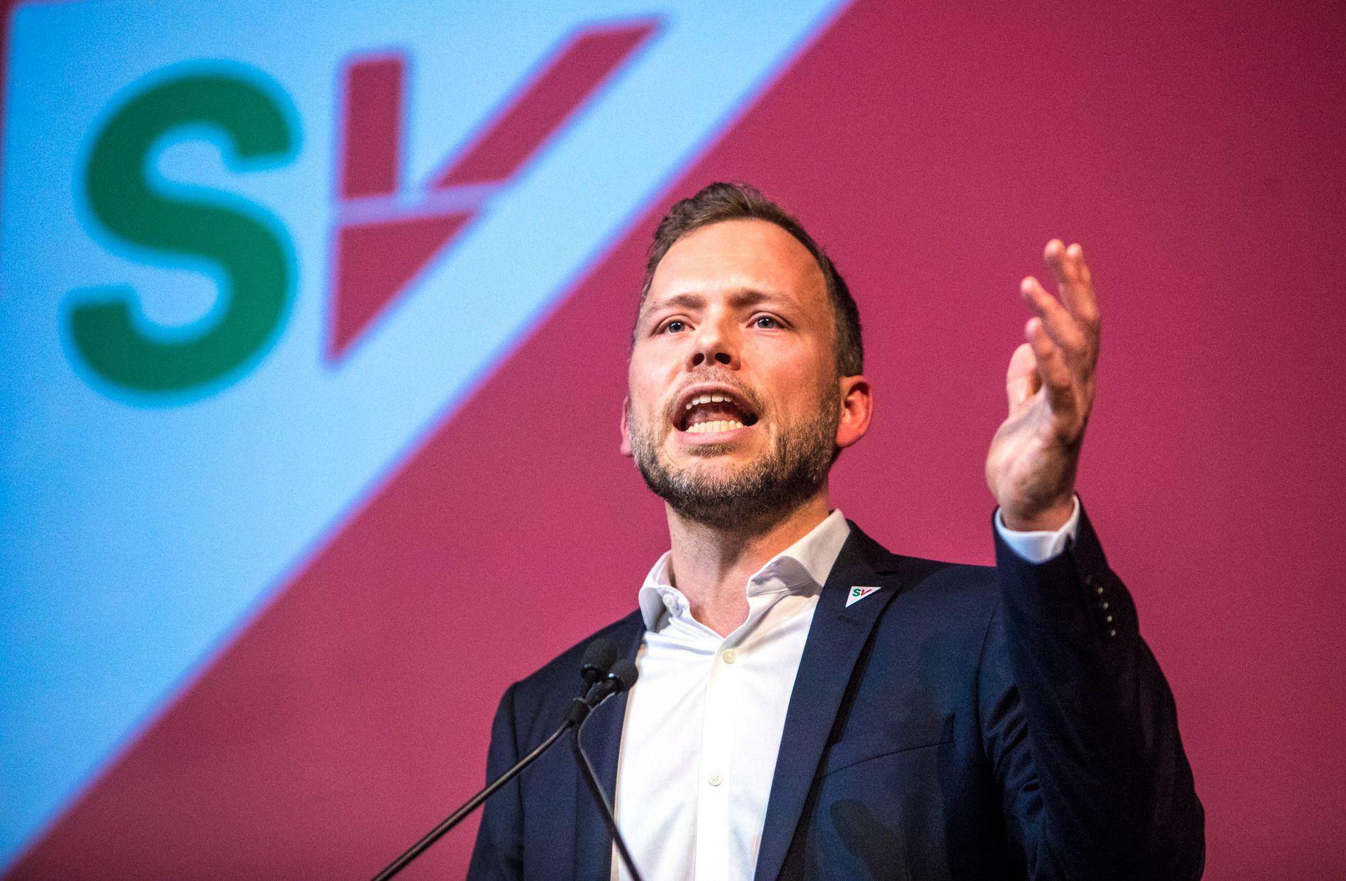 JUBLER: SV-leder Audun Lysbakken er storfornøyd med at partiet hans er jevnstort med Ap på VGs siste Tromsø-måling.