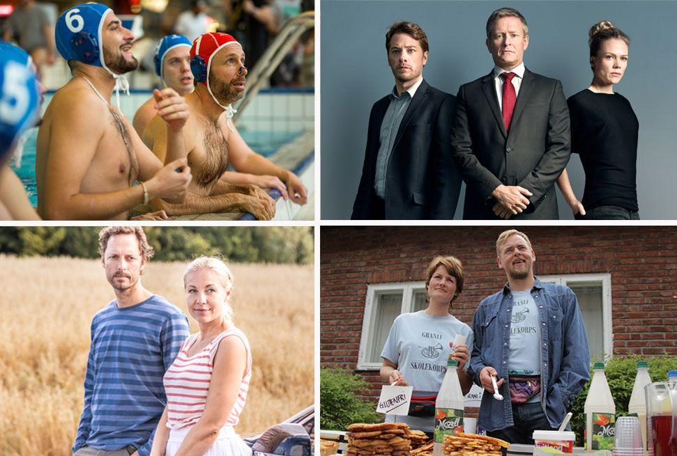 MER: «Helt perfekt» (øverst fra venstre), «Okkupert», «Neste sommer» og «Side om side» er blant TV-seriene du får se mer av fremover.