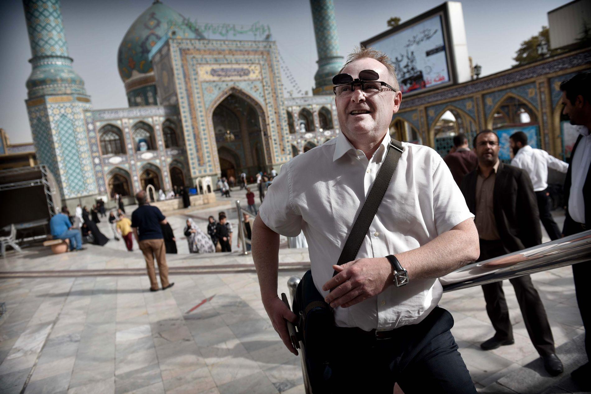 I IRAN: Per Sandberg har denne sommeren dratt på privat ferie til Iran. I 2016 besøkte han landet som fiskeriminister.
