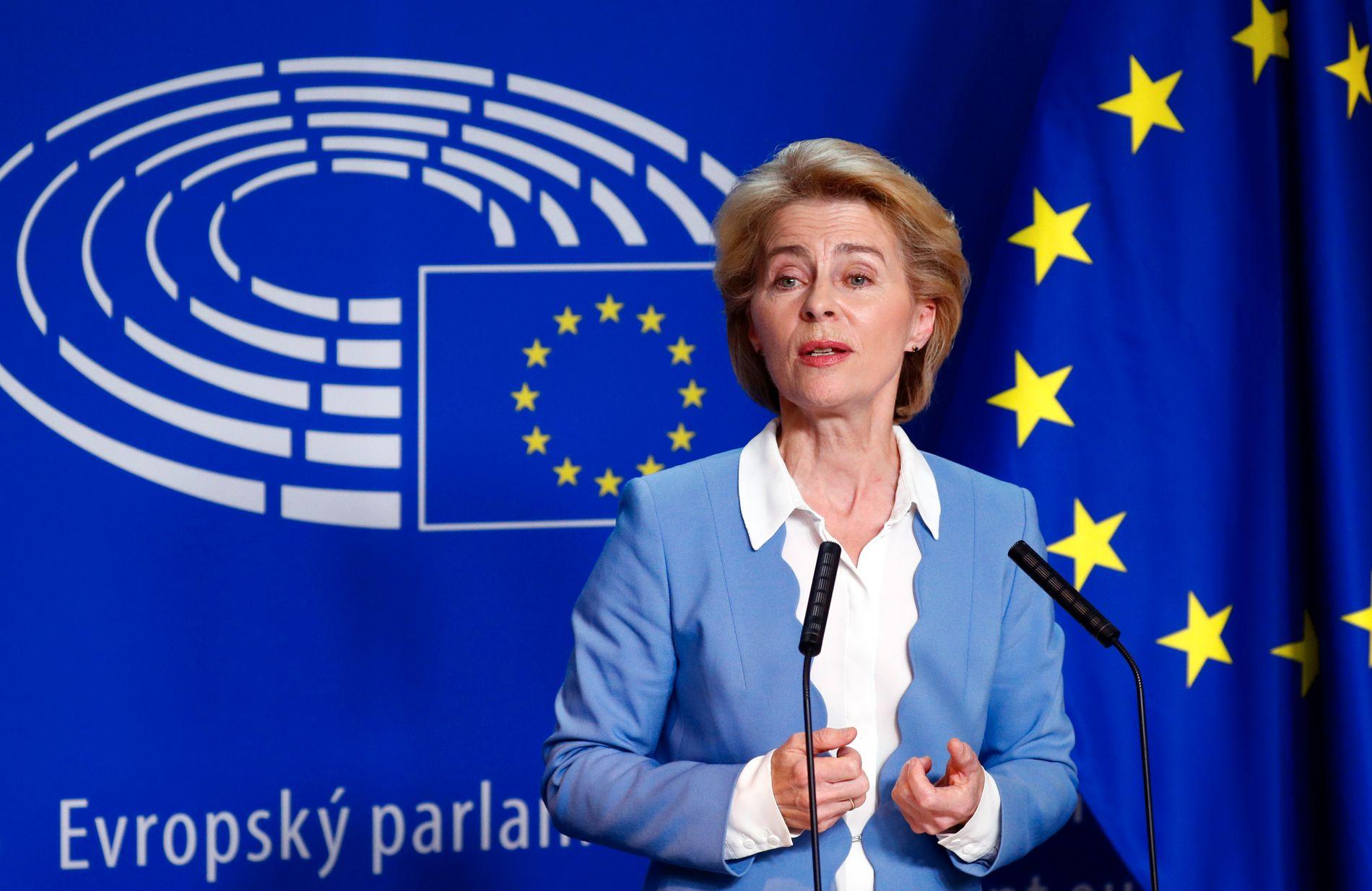 INGEN MEDBESTEMMELSE: – EUs fire friheter gjelder fullt ut i Norge. Heldigvis. Dette sikrer fri bevegelse av varer, tjenester, mennesker og investeringer. Men Norge har som ikke-medlem, ingen medbestemmelse, skriver kronikkforfatteren. Ursula von der Leyen (bildet) ble tidligere denne uken valgt til ny president i EU-kommisjonen.