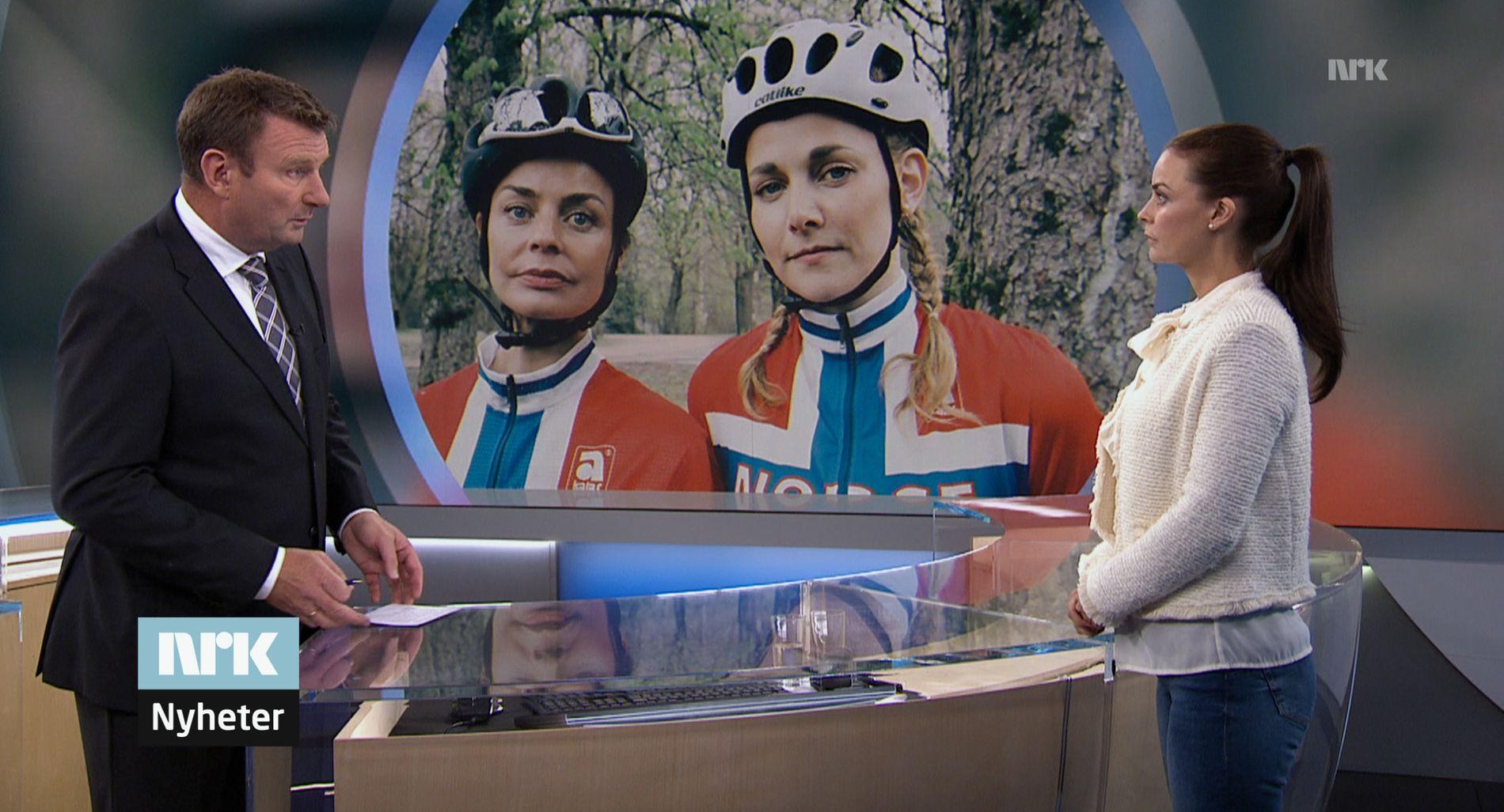 «HJELPERYTTEREN»: Med Silje Salomonsen og Agnes Kittelsen er en sykkeldopingsatire.
