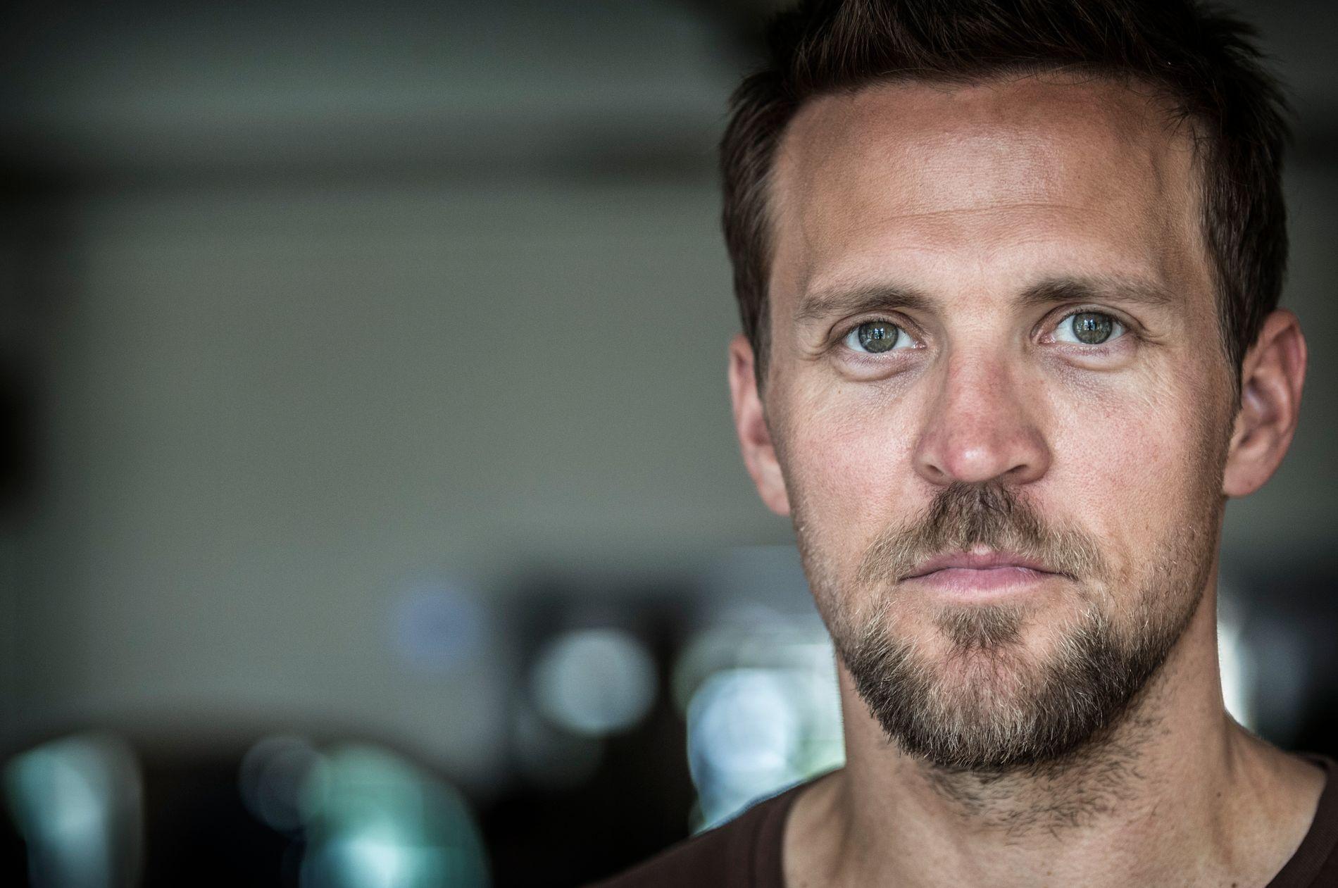 KLAR FOR HOVEDROLLE: Tobias Santelmann på innspilling av «Grenseland», en ny krimserie på TV 2.