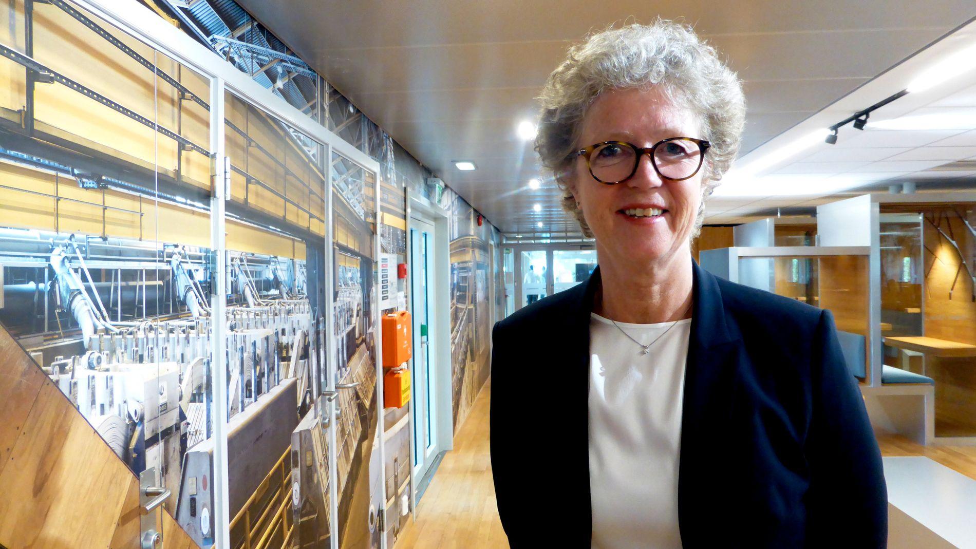 Hydros konsernsjef Hilde Merete Aasheim avbildet på hovedkontoret utenfor Oslo sentrum