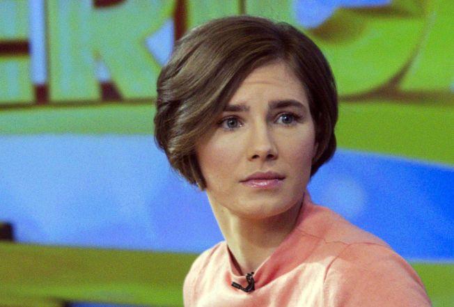 UVISS SKJEBNE: Amanda Knox PÅ ABC's «Good Morning America» i janaur i fjor.