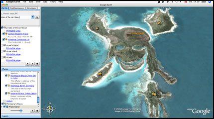 YAARRR, MATEY: Oisann! En ny øy har dukket opp i Google Earth. Foto: Skjermbilde