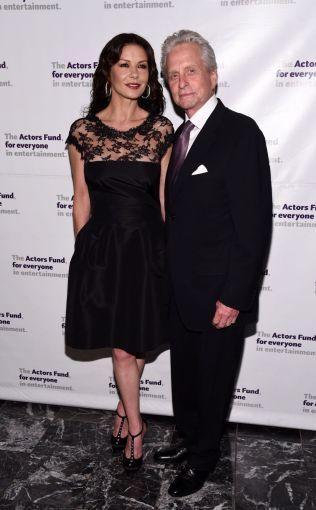 SAMMEN IGJEN: Catherine Zeta-Jones og Michael Douglas på Actors Fund Gala i New York i mai i år.