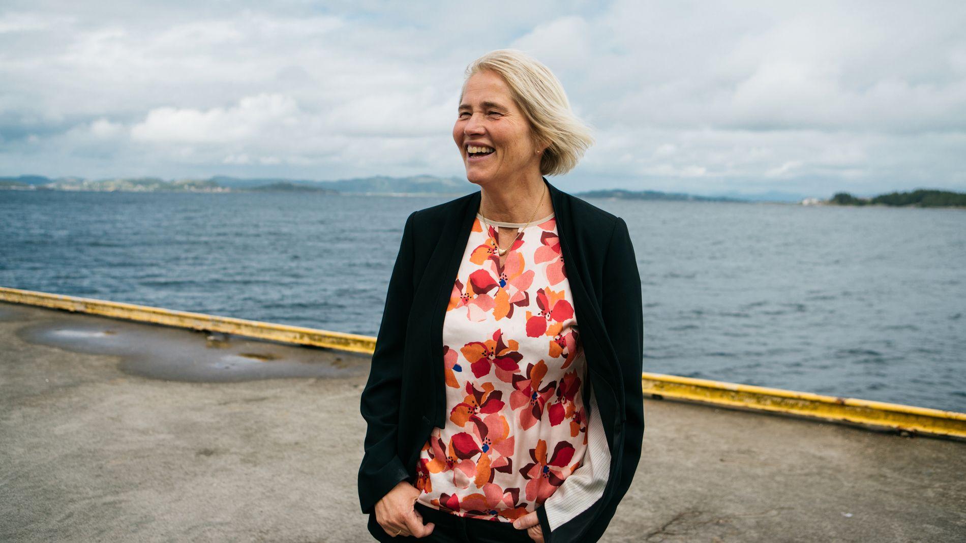 BEDRE TIDER: Anne Jorunn Møkster, som er administrerende direktør for Simon Møkster Shipping, sier at de er i ferd med å riste av seg oljesmellen – og at neste år kan gi overskudd.