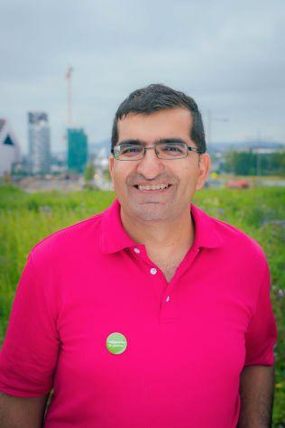 GRUNN TIL Å GLISE: Ordførerkandidat for MDG i Oslo, Shoaib Sultan.