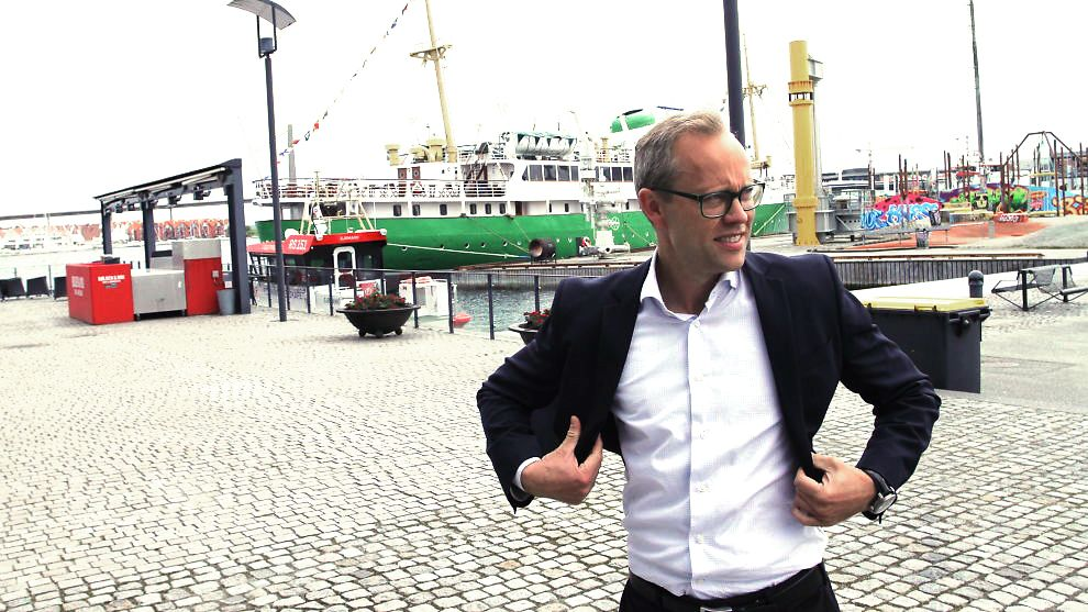BETINGET OPTIMIST: Kyrre Martinius Knudsen, som er sjeføkonom i SR-Bank, sier at næringslivet på Sørvestlandet går bedre enn ventet, men sier at handelskrig og brexit kan skape trøbbel.