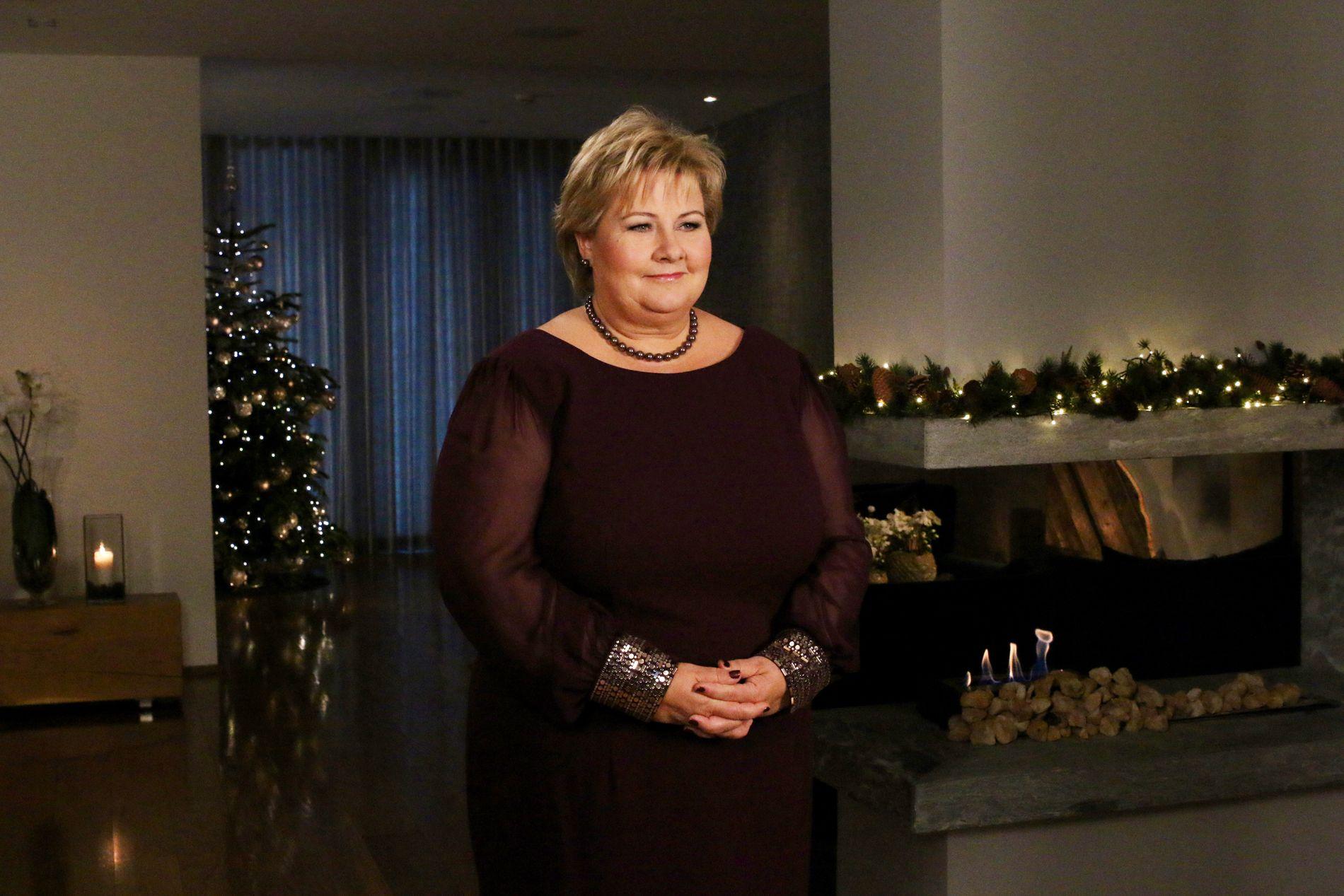 NYTTÅRSTALE: Statsminister Erna Solberg benyttet sin nyttårstale til å snakke om utfordringer for barn og unge, og tok også opp at Norge trenger flere barn.