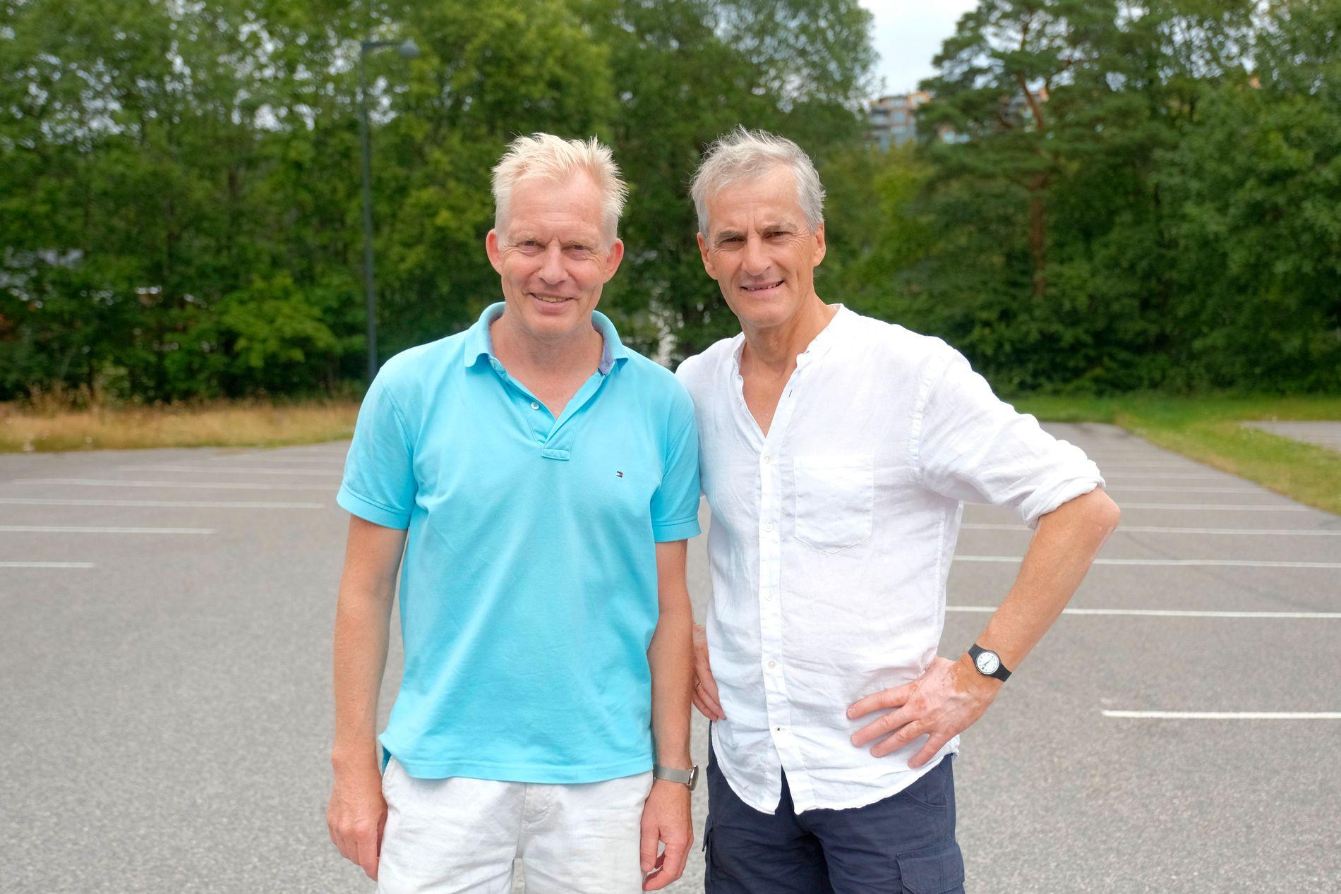 ØYNER HÅP: Aps ordførerkandidat Jan Oddvar Skisland i Kristiansand, her sammen med partileder Jonas Gahr Støre.