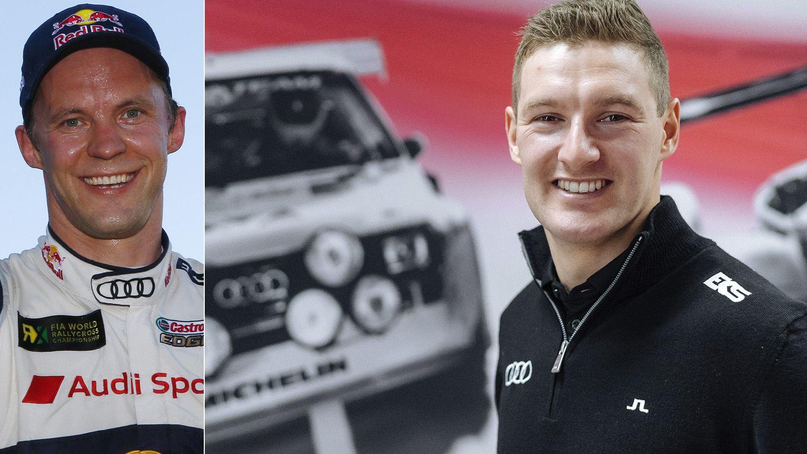 NYE KOLLEGER: Mattias Ekström t.v. har plukket norske Andreas Bakkerud til sitt Audi-team i rally-VM.