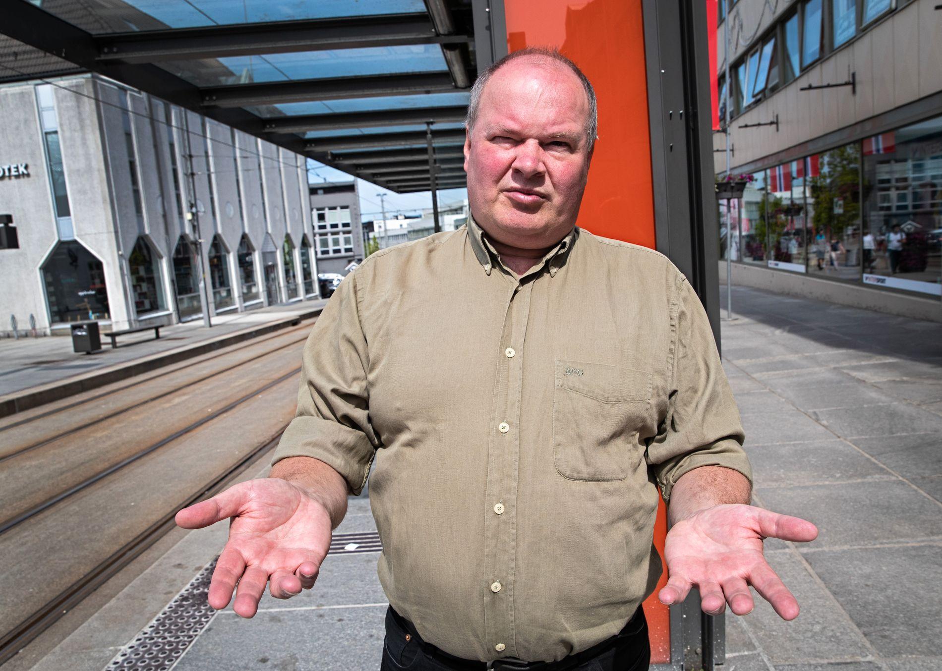 BOMINANS: Folkeaksjonen nei til mer bompenger er igjen Bergens største parti på VGs partibarometer. Her ved toppkandidat Trym Aafløy.
