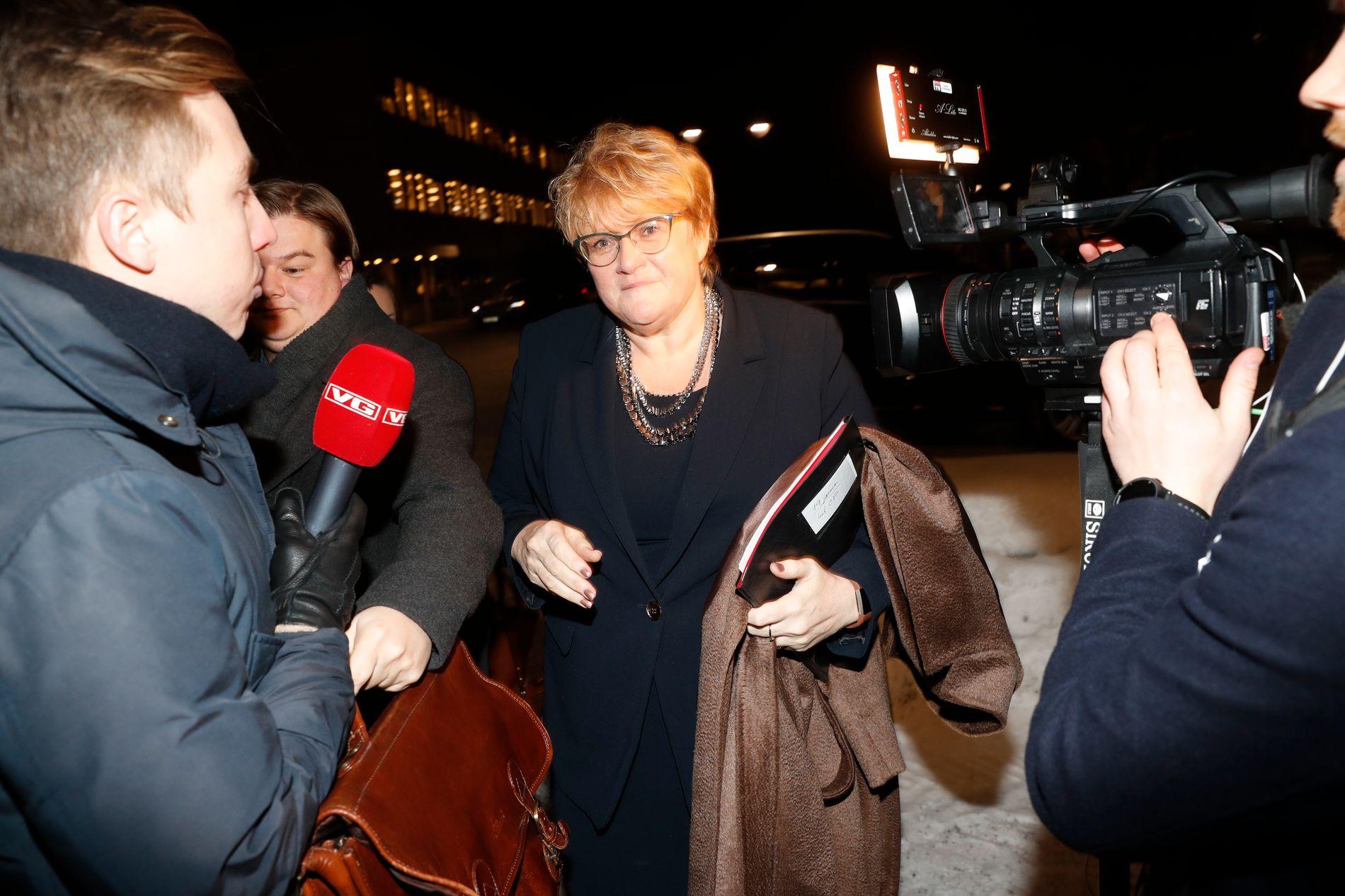 DEBATT: Trine Skei Grande på vei til Debatten i NRK torsdag kveld, der temaet blant annet ble saken fra 2008.