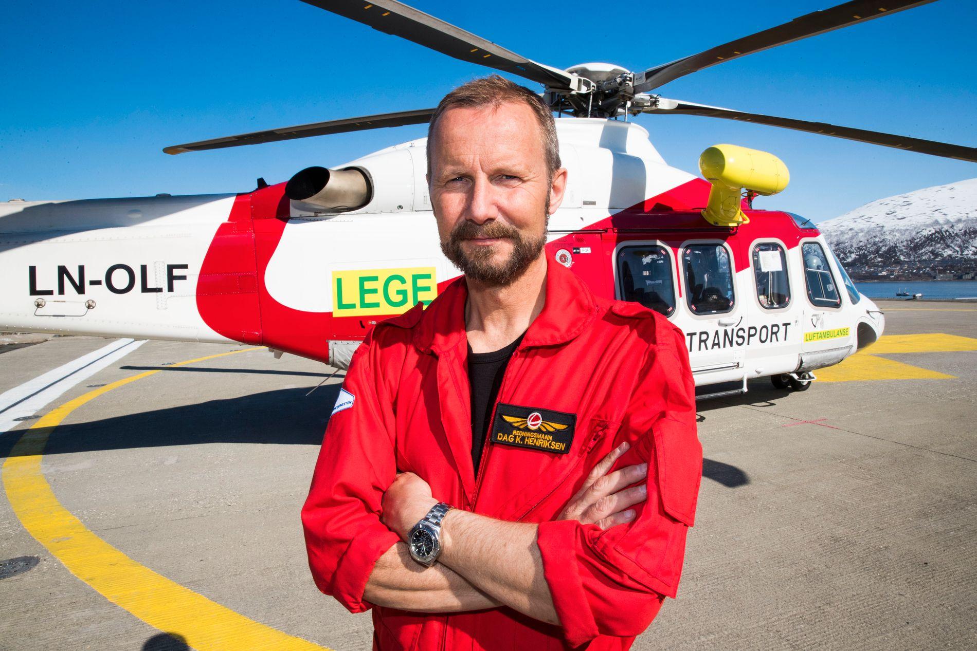 FRUSTRERT: Redningsmann Dag K. Henriksen er ikke fornøyd med anbudsprosessen i ambulansehelikopter-tjenesten.
