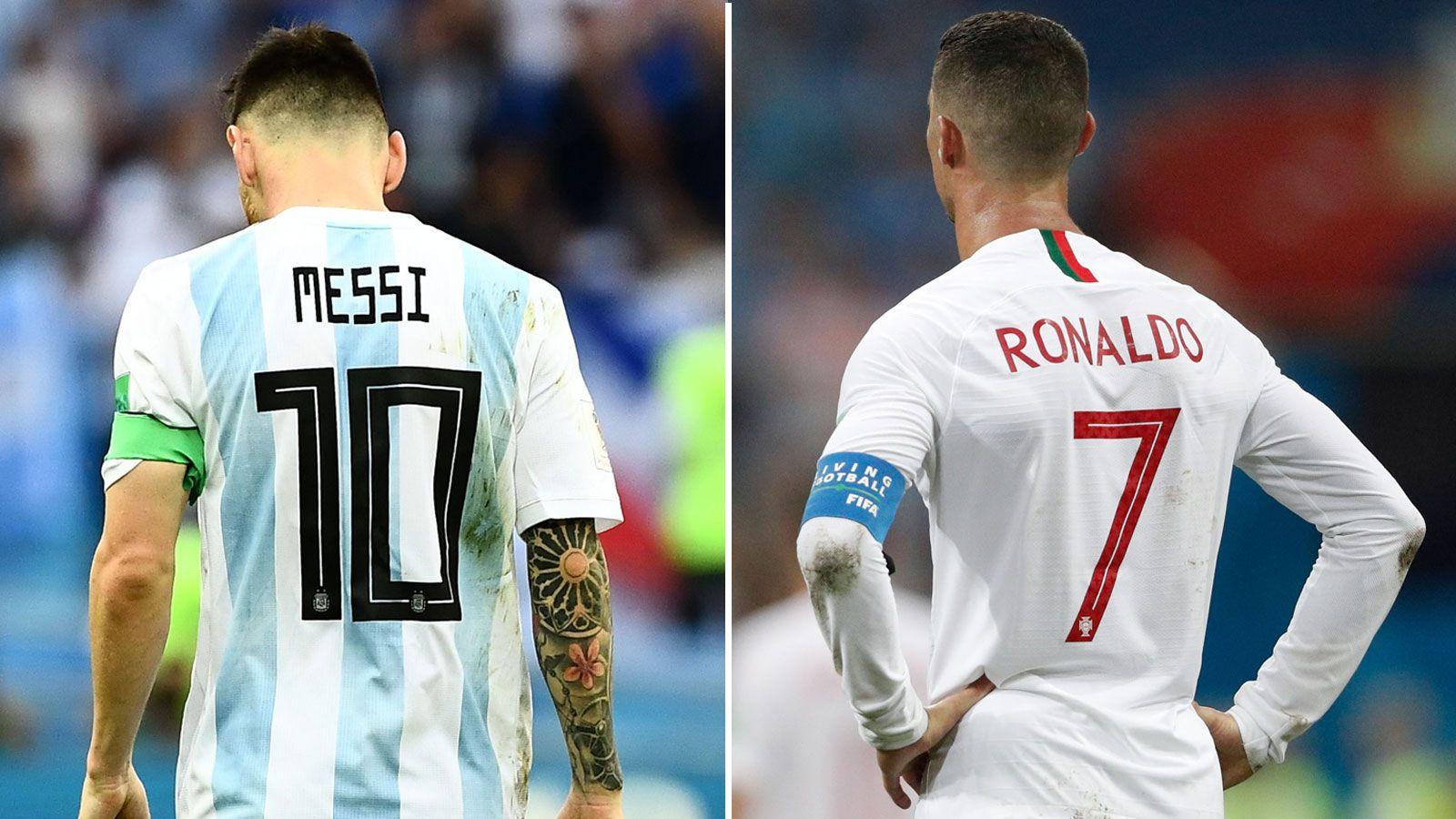 TIDLIG SLUTT: De jaktet på sitt første VM-gull, men hverken Lionel Messi eller Cristiano Ronaldo kom på skuddhold av VM-finalen i 2018.