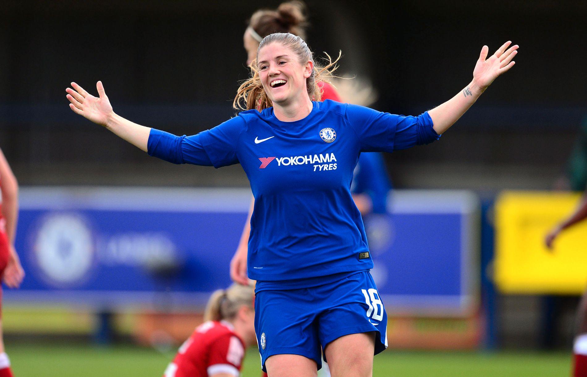 NOMINERT: Landslagskaptein Maren Mjelde er gjennom sine prestasjoner i Chelsea nominert til årets spiller i England.