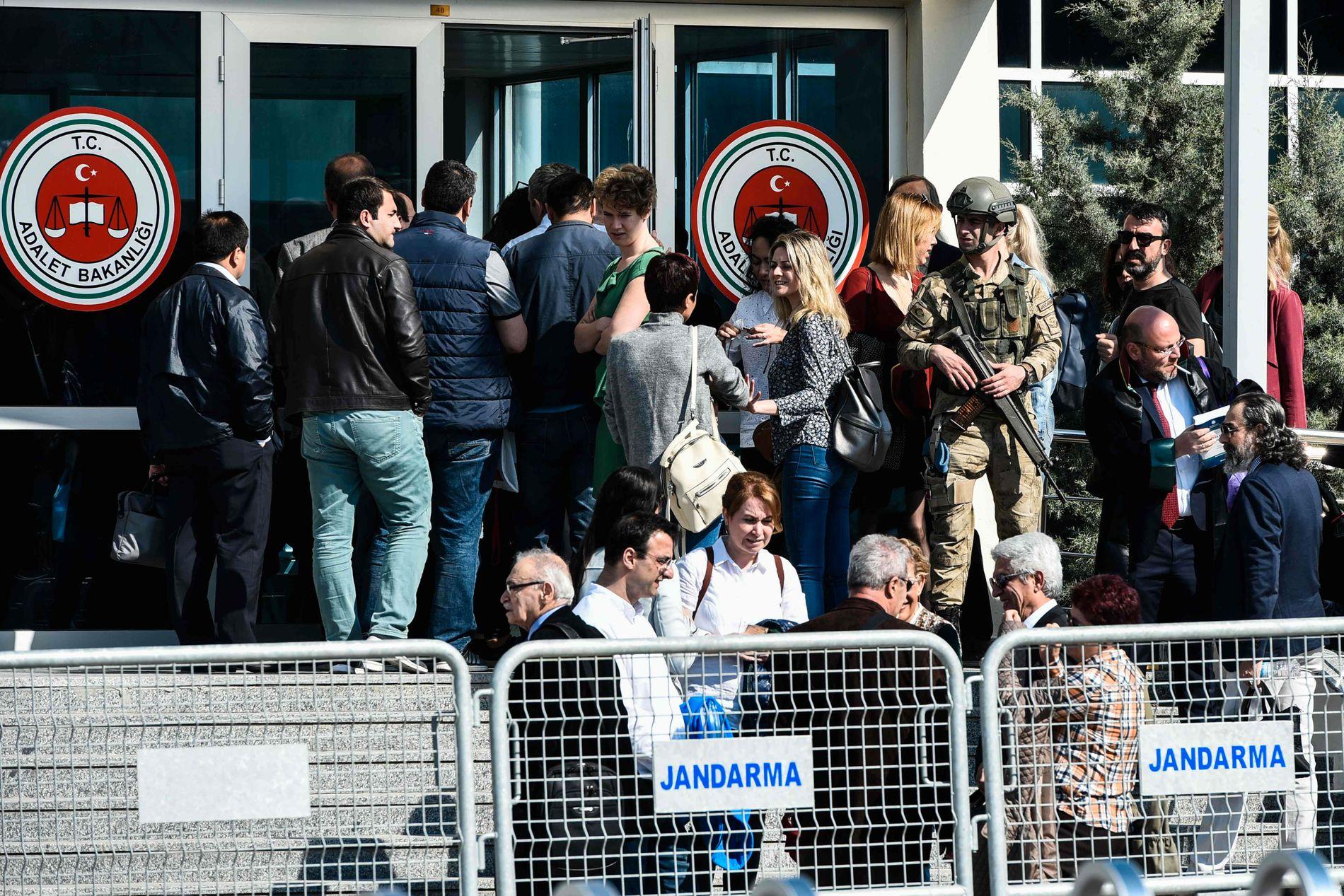 FENGSELET: Rettssaken mot tidligere og nåværende ledere, journalister og illustratører i Cumhuriyet foregikk i Silivri-fengselet utenfor Istanbul.