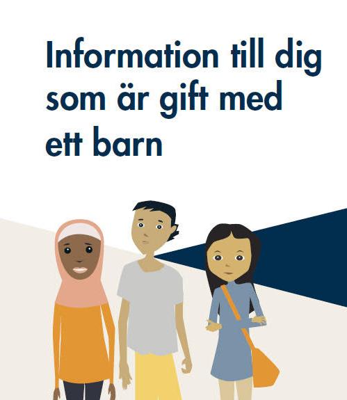 HARD MEDFART: Denne brosjyren om barneekteskap utarbeidet av Sosialstyrelsen og Migrasjonsverket har blitt slaktet av svenskene.