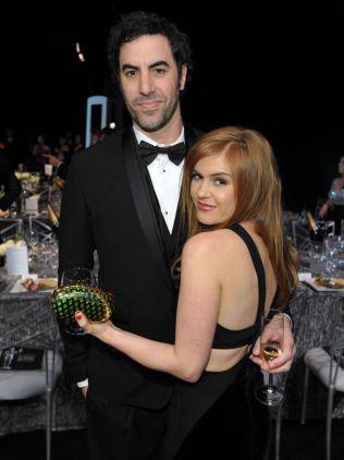 GIFT: Skuespillerparet Sacha Baron Cohen og Isla Fisher.