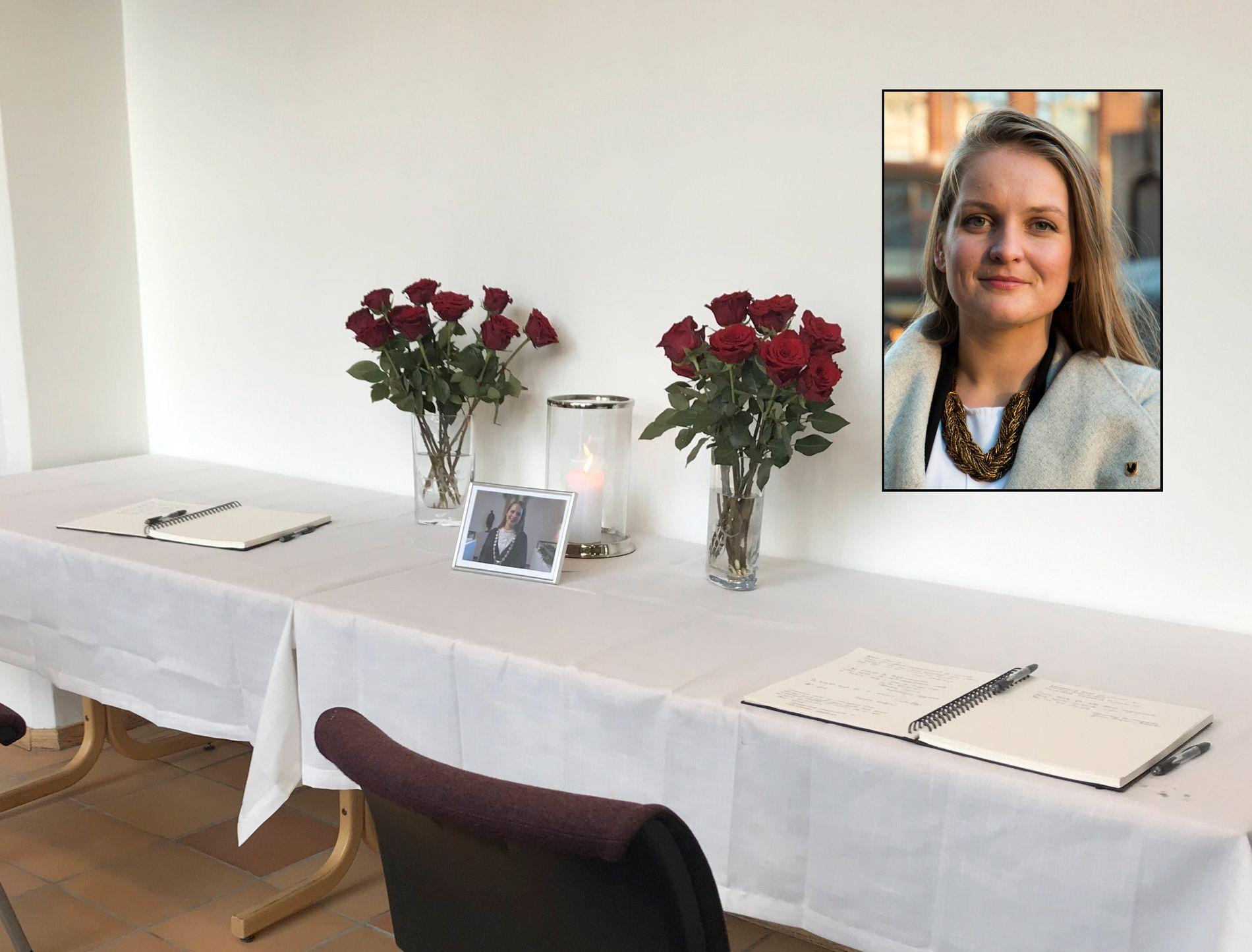 VARME HILSENER: Kondolanseprotokollen i Malvik rådhus er fylt med hilsener fra folk som minnes ordfører Ingrid Aune.
