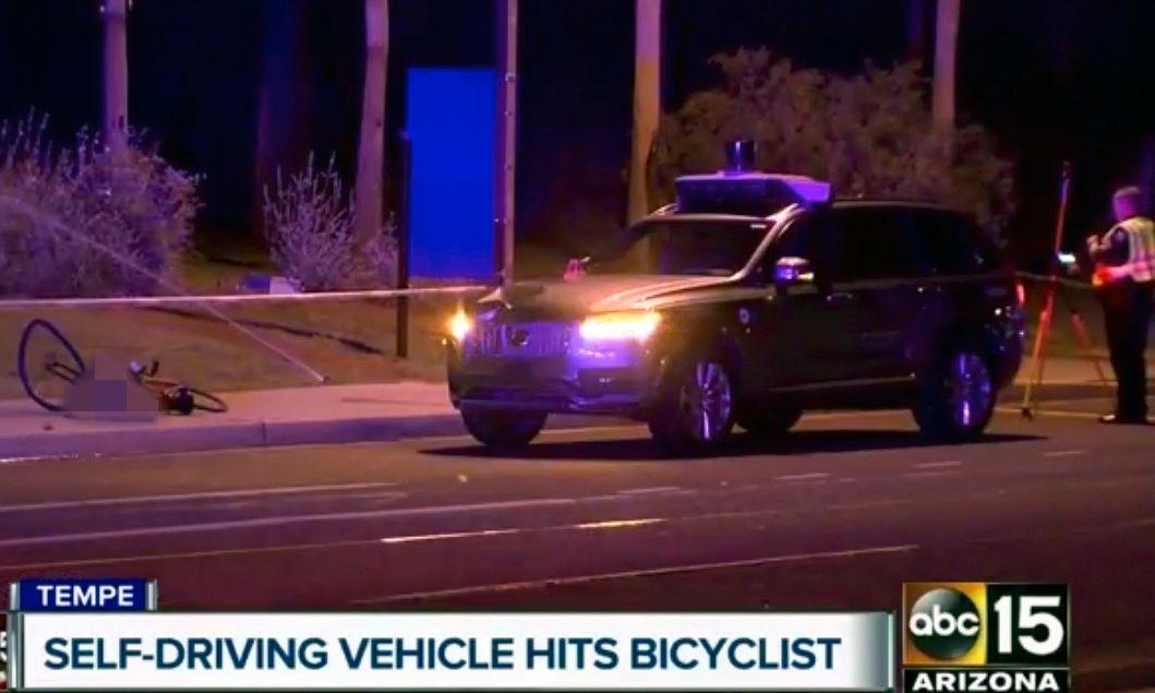 DØDE: En 49 år gammel kvinne mistet livet etter et sammenstøt med en av Ubers førerløse biler natt til mandag.