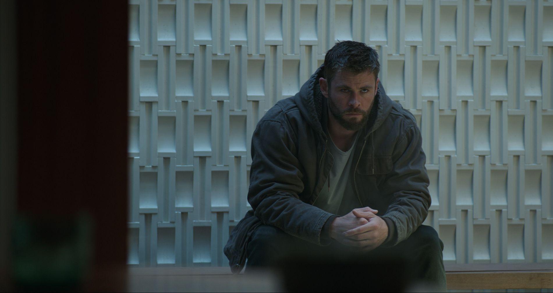 LEI: Thor (Chris Hemsworth) er lei av å vente på å få se «Avengers: Endgame»
