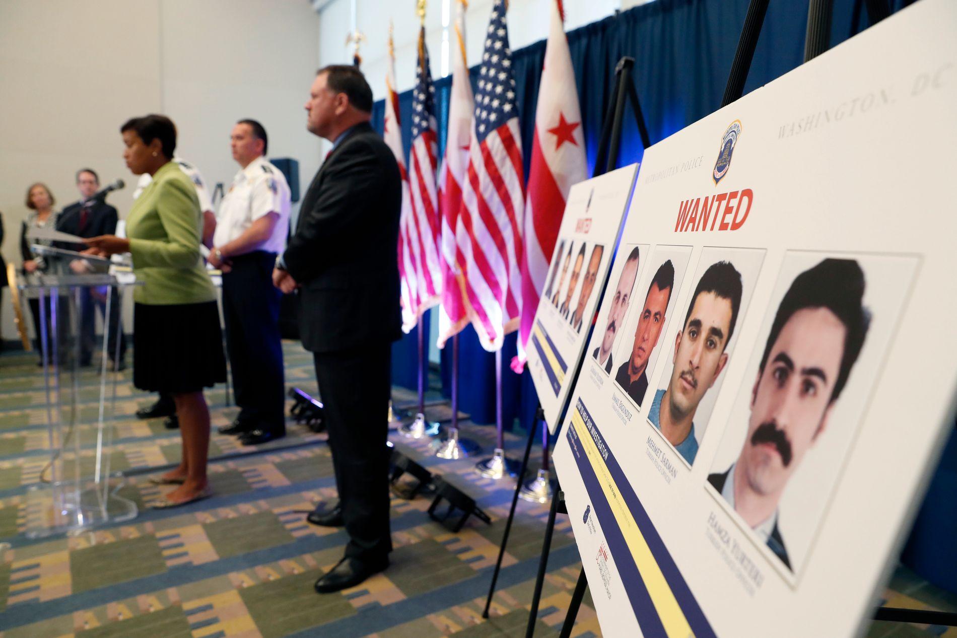 ARRESTORDRE: Borgermesteren i Washington D.C. Muriel Bowser kunngjorde den 15. juni at det er utstedt arrestordre på tolv personer fra den tyrkiske presidentens livvakttjeneste.