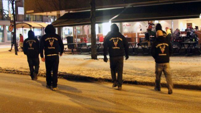 POSITIVE TILBAKEMELDINGER: Leder av Odins Soldater, Ronny Alte mener det har vært utelukkende positive tilbakemeldinger etter at de patruljerte Tønsbergs gater natt til søndag 14. februar.