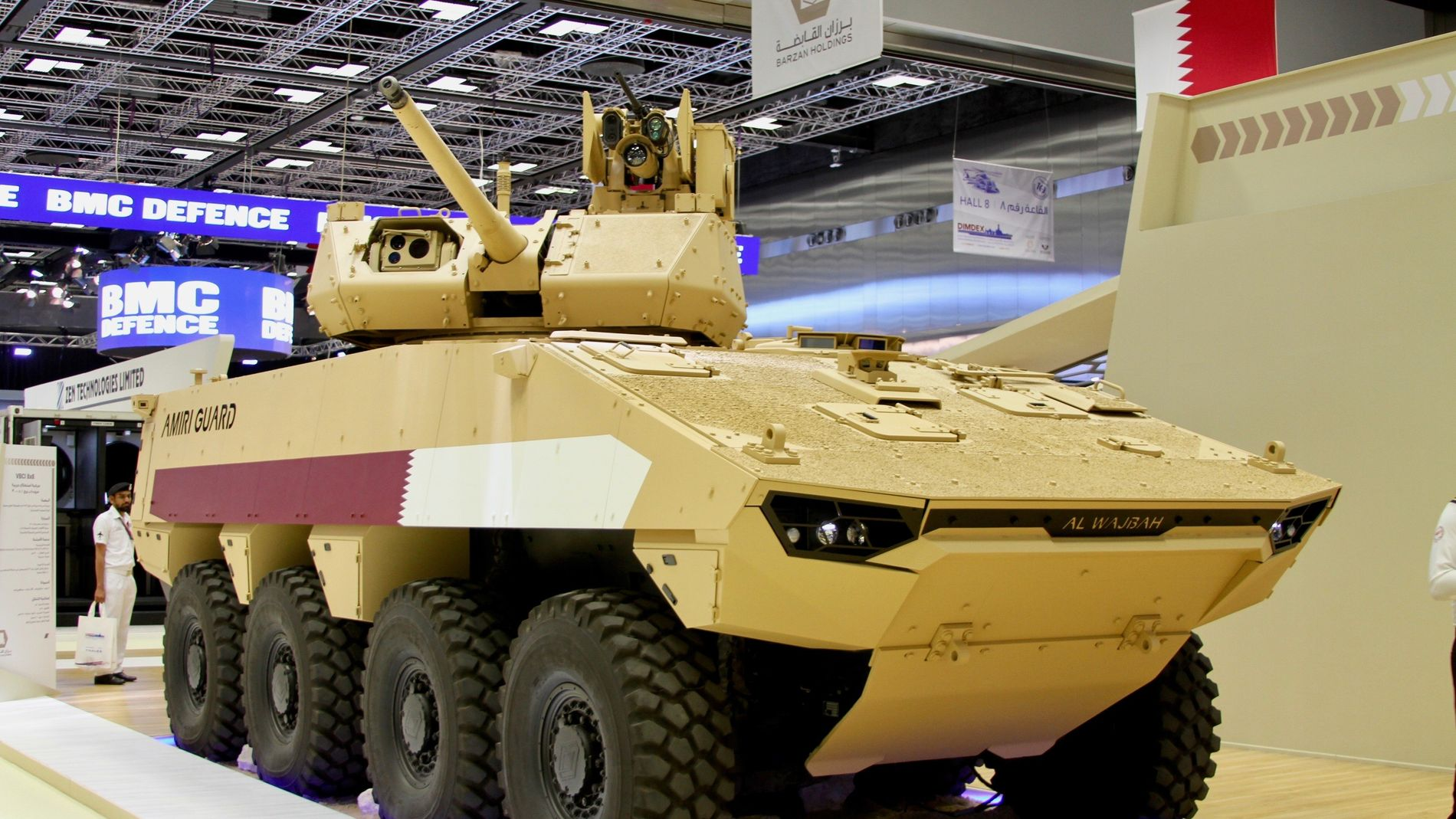 SOLGT: Her er det pansrede kjøretøyet som Nexter skal levere til Qatar, med Kongsberg Gruppens fjernstyrte våpenstasjon «Protector Medium Caliber Turret» montert på toppen.