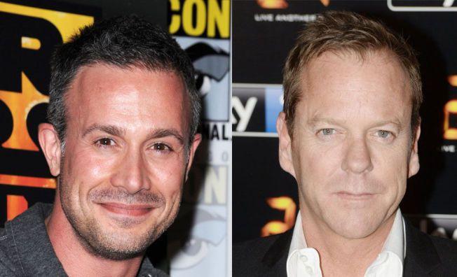 IKKE MYE SKRYT Å FÅ: Freddie Prinze Jr (t.v) langer ut mot kollega Kiefer Sutherland.