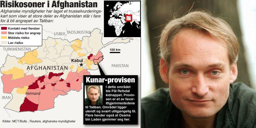 LØSLATT: Frilansjournalisten Pål Refsdal var kidnappet i Kunar-provinsen i Afghanistan. Foto: Scanpix/VG Nett