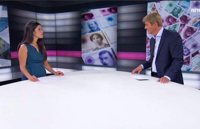 TØFFE SPØRSMÅL: Mange mener NRKs programleder Anders Magnus avbrøt for mye under NRKs valgstudiosending i går. Her må Lan Marie Nguyen Berg, førstekandidat i Oslo MDG, til pers.
