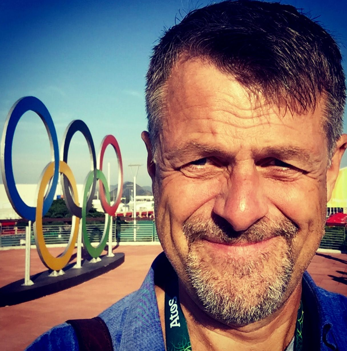 I RIO: VGs håndballreporter Jostein Overvik.