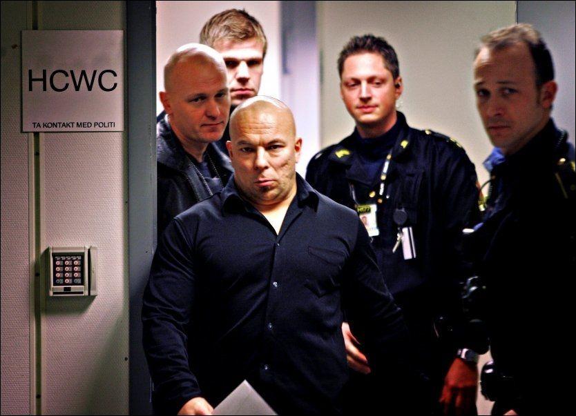 BLE IKKE HØRT: Sven-Erik Utsi (40) har fått klagen mot staten Norge avvist av menneskerettighetsdomstolen i Strasbourg. Bildet er tatt da han vitnet i Nokas-saken i desember 2005. Foto: Hugo Bergsaker/VG