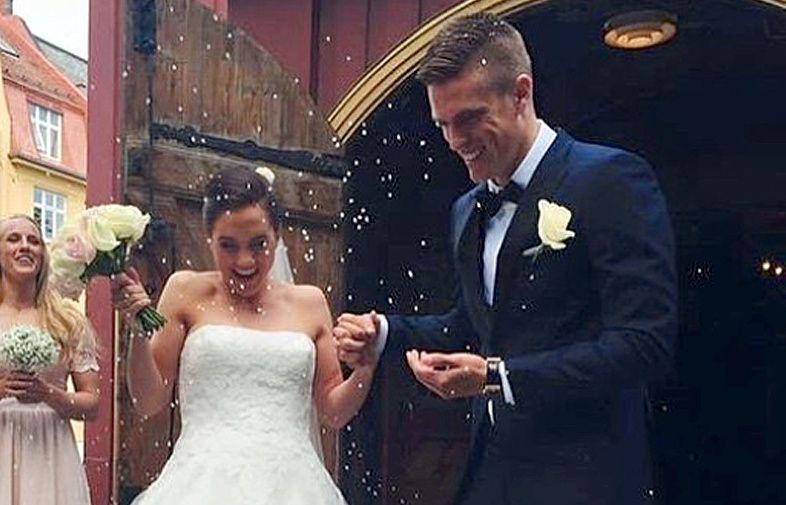GIFT I FJOR: Anne Hellene Faanes og Markus Henriksen gitftet hjemme i Trondheim i fjor. Nå er paret blitt foreldre til sønn nummer to.