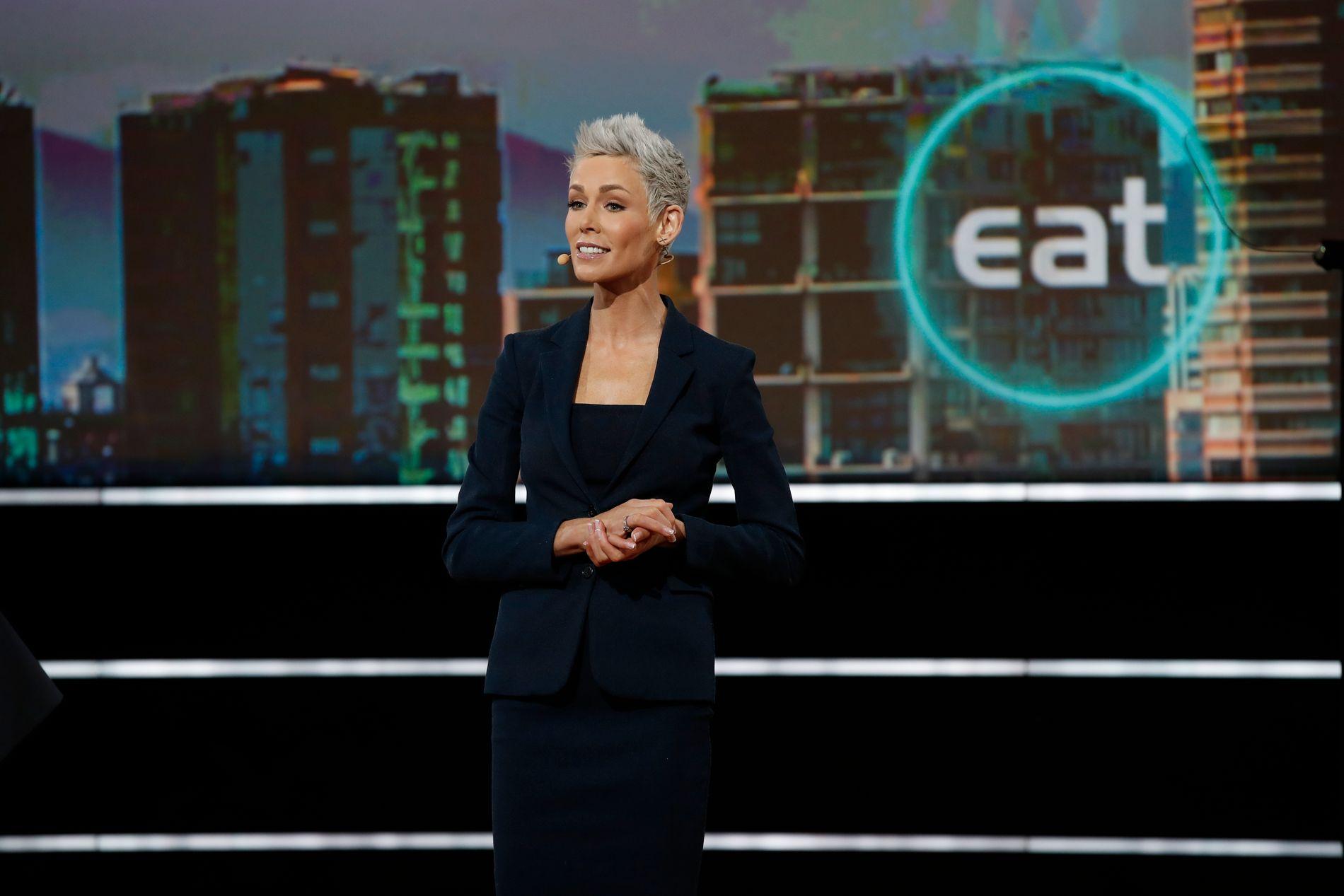 LIVSKRAFT: Gunhild Stordalen på EAT Stockholm Food Forum i 2017. Hun har jobbet under hele behandlingsperioden - og hun forteller i boken at arbeidet ga henne livskraft.